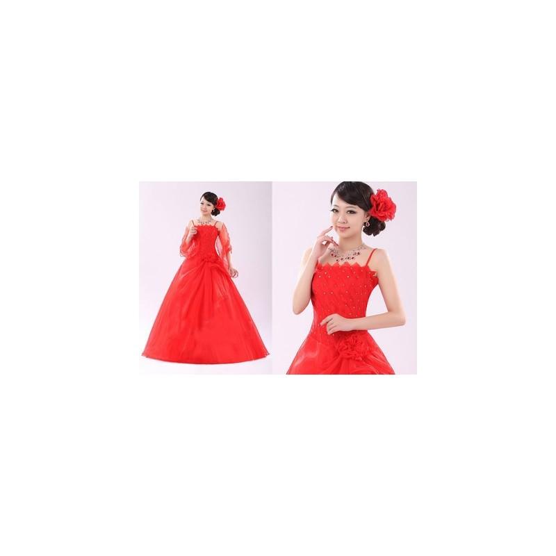 červené plesové společenské šaty Elizabeth M-L - Hollywood Style E ... c703d4cb05