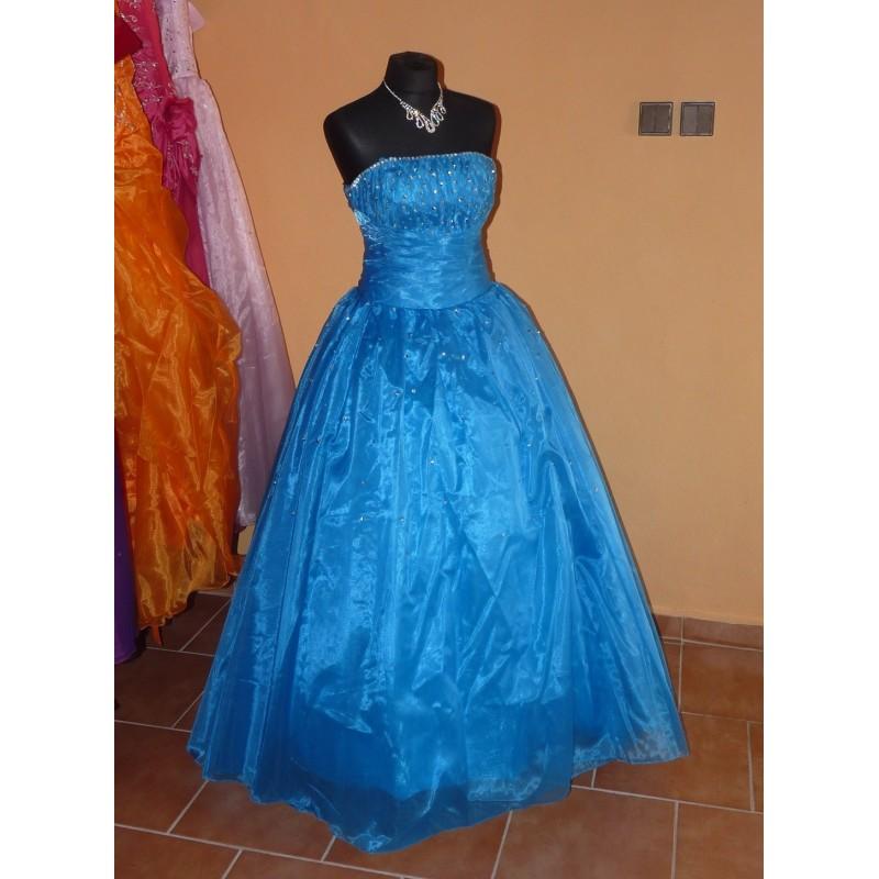plesové modré společenské šaty Nina XL-XXL - Hollywood Style E-Shop ... 1f1ada00535