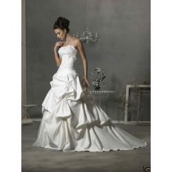 extra luxusní svatební šaty Deron bílé M-L
