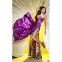 sexy fialové leopardí plesové společenské šaty Debbie S-M