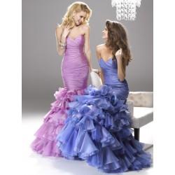 modré plesové společenské šaty Mandy M-L
