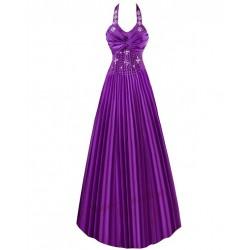Sofia společenské fialové šaty plisované M-L