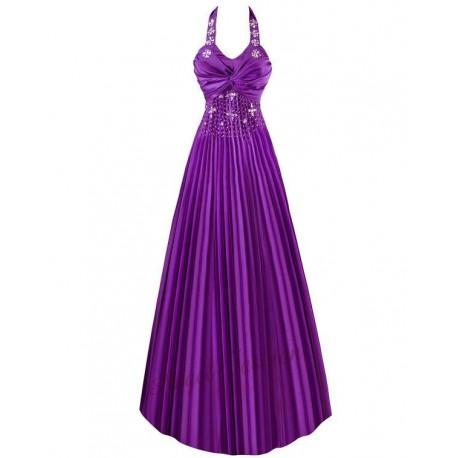 Sofia společenské fialové šaty plisované M-L - Hollywood Style E ... 440641d3b9
