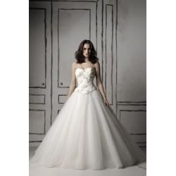 extra luxusní svatební bílé šaty Olivia S-M