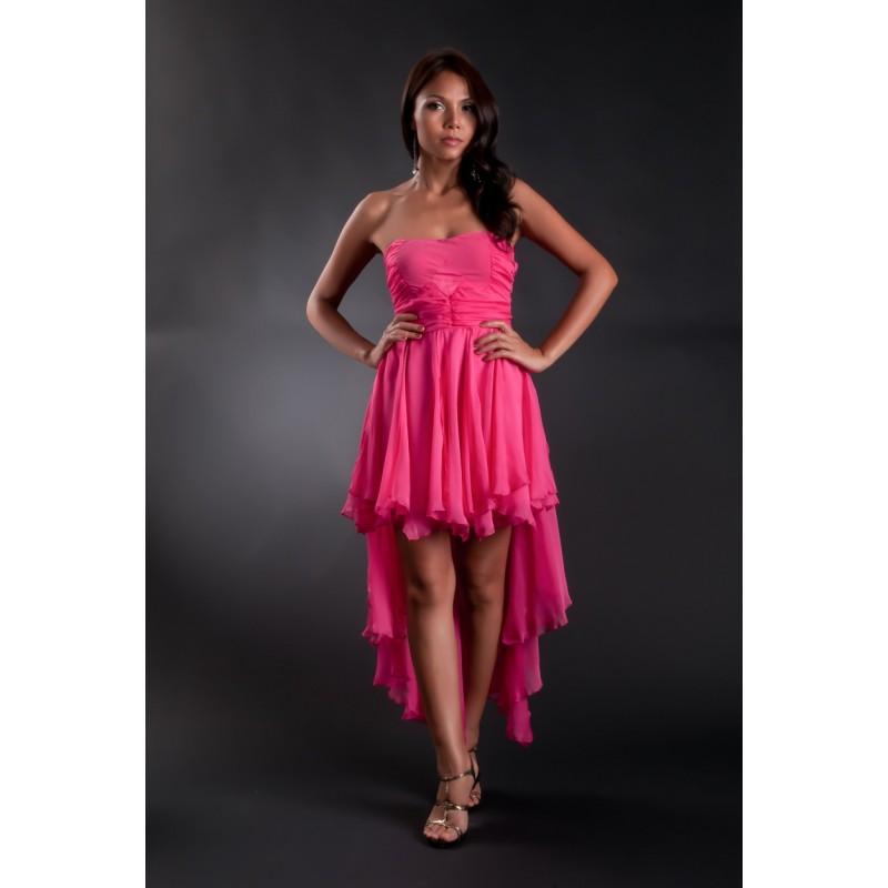 sexy polodlouhé růžové společenské letní šaty M-L - Hollywood Style ... e9bdcf90f0
