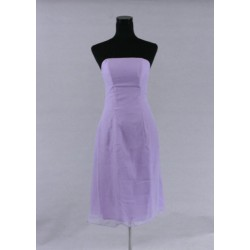 krátké světle fialové společenské šaty XS
