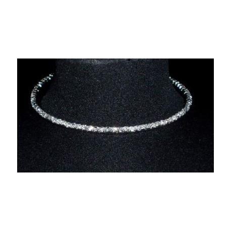 luxusní štrasový náhrdelník jednořadý