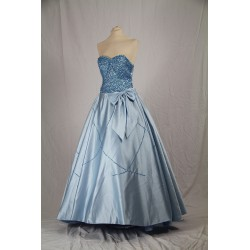 luxusní modré plesové společenské šaty Lucia S-M