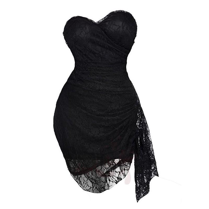 586d025771e1 Sofia sexy krátké černé krajkové společenské šaty XS-S - Hollywood ...