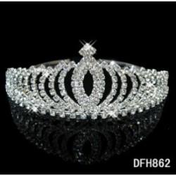 brzy luxusní štrasová korunka Princess pro nevěstu