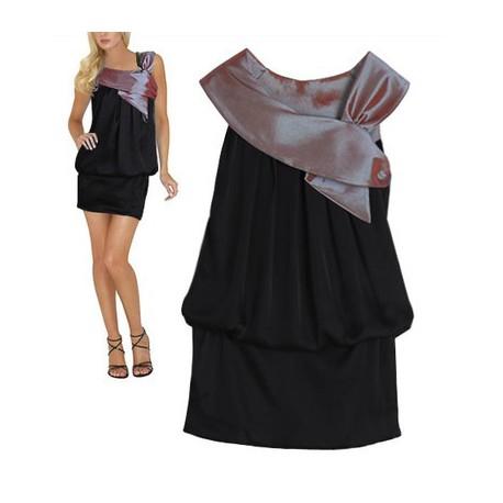 brzy krátké černé společenské šaty Kelly L