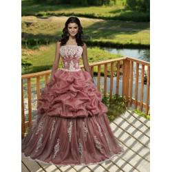 luxusní růžové plesové společenské šaty Gabrielle S-M