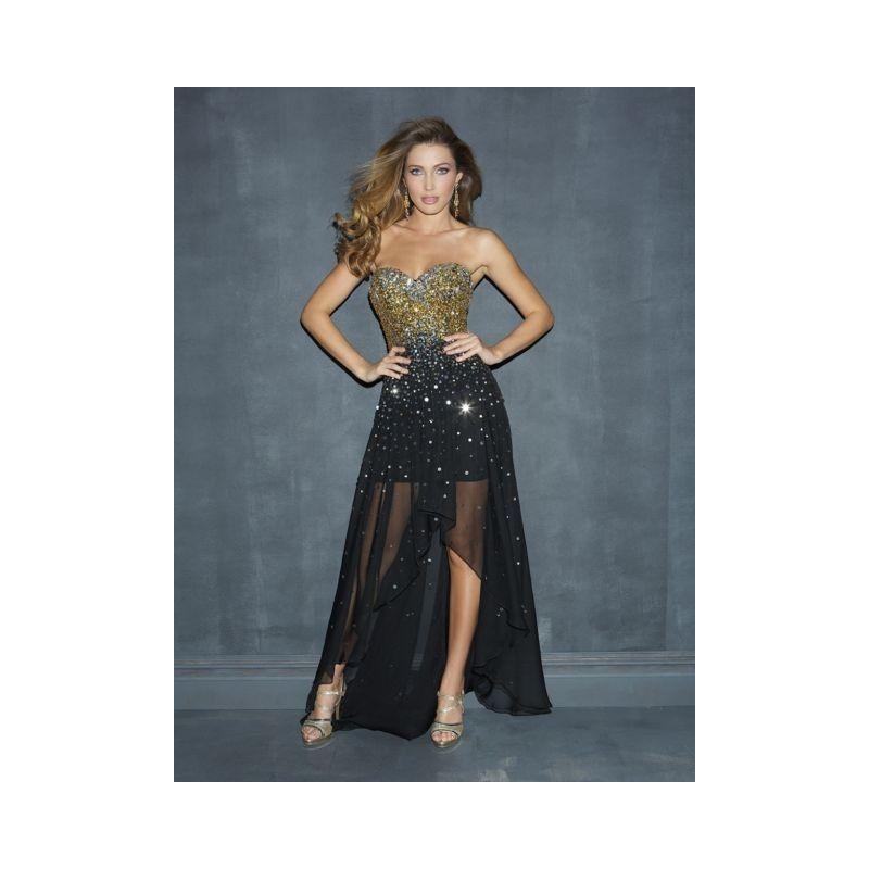 luxusní černo-zlaté plesové společenské šaty Goby XS-M - Hollywood ... 27cf87f451