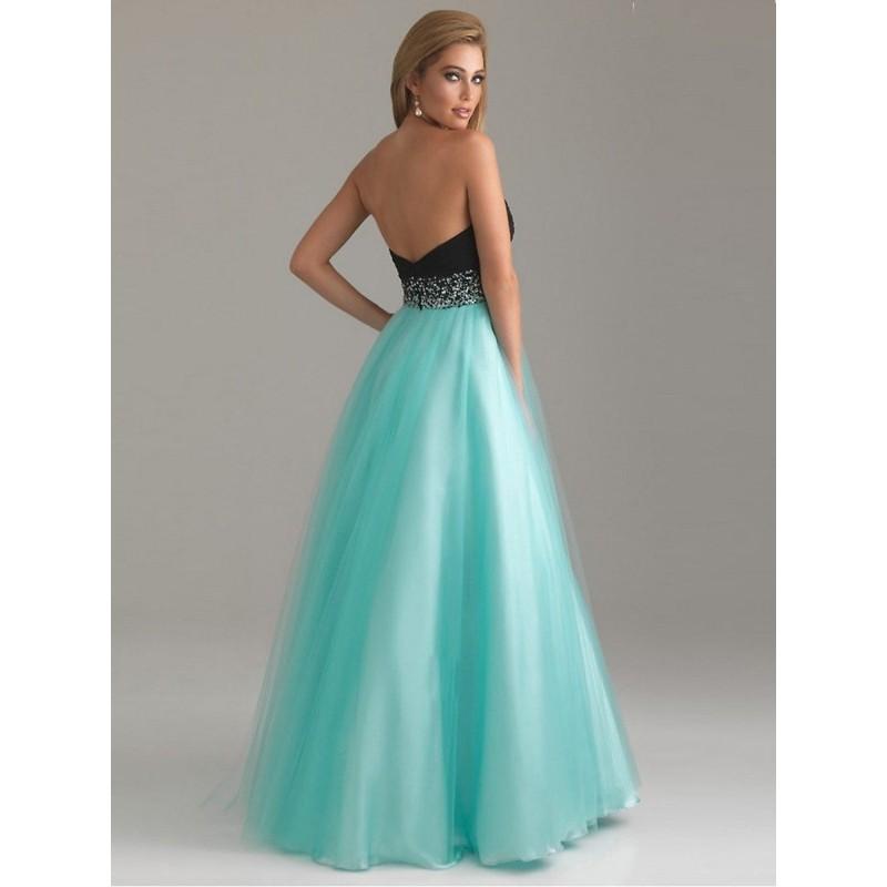 eaa70e1dd36 ... luxusní modro-černé plesové společenské šaty na maturitní ples Mandy  L-XL
