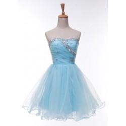 světle modré krátké společenské šaty Melania 534dd7d965