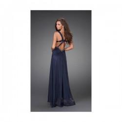 luxusní plesové společenské tmavě modré šaty Dita
