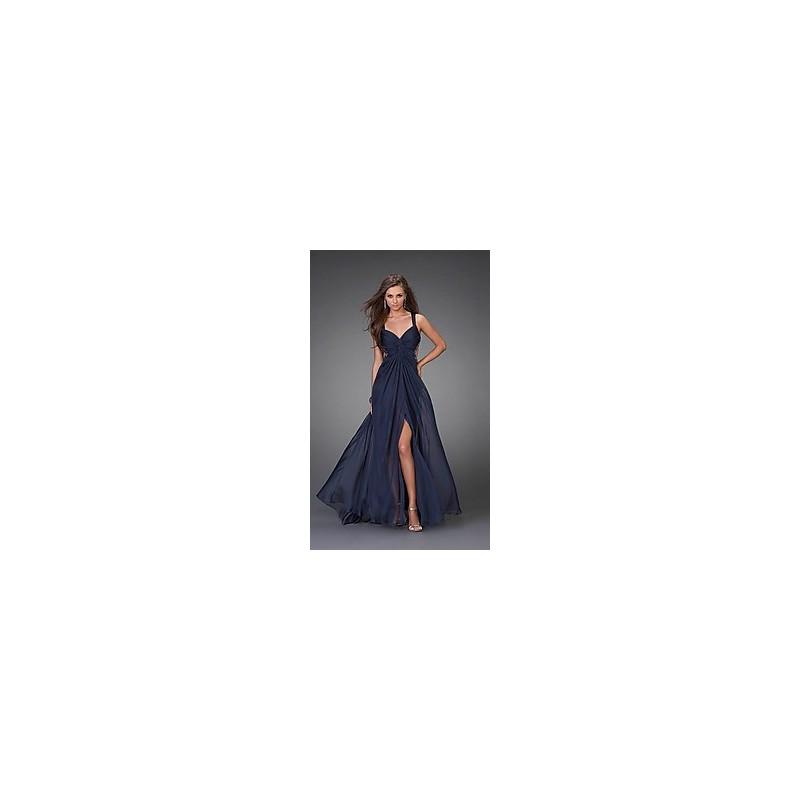 2a131e262b8 luxusní plesové společenské tmavě modré šaty Dita - Hollywood Style ...
