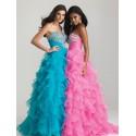 plesové společenské maturitní šaty Adele 1 - modré, žluté, růžové