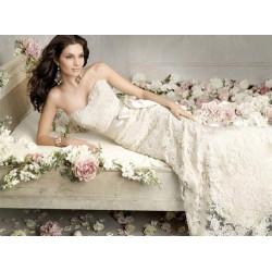 bílé krajkové svatební šaty Florencia S-M