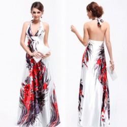 barevné společenské dlouhé šaty Wanda XS