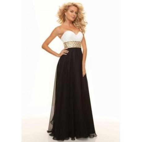 černo-bílé antické plesové společenské šaty Evita S-M