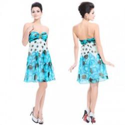 barevné modré krátké společenské letní šaty Arnica M