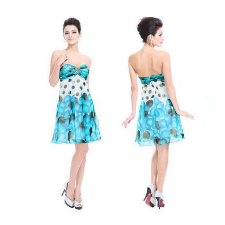 barevné modré krátké společenské letní šaty Arnica M - Hollywood ... ab67f016d0