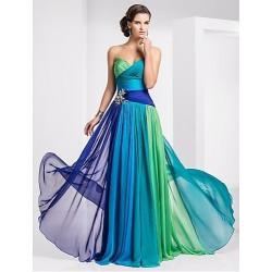 luxusní antické modro-zelené plesové šaty Dolce M-L