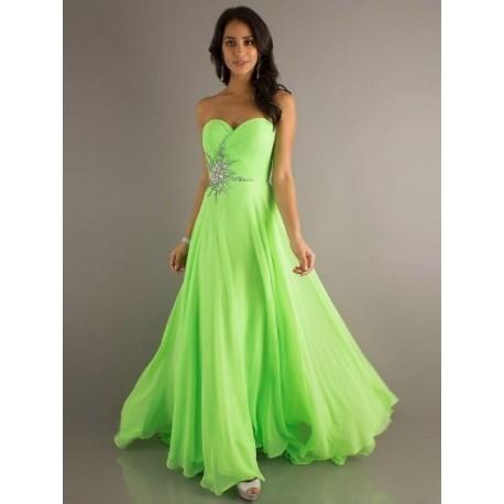 zelené plesové společenské šaty Sisi S-M