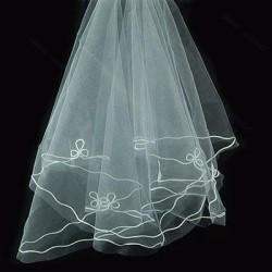 jednoduchý bílý svatební závoj 110x150cm