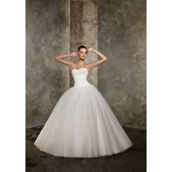 luxusní ivory svatební šaty Bella XXL-3XL