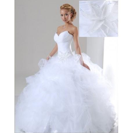 luxusní bílé svatební šaty Benedetta S-M