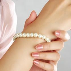 jednořadý perličkový náramek