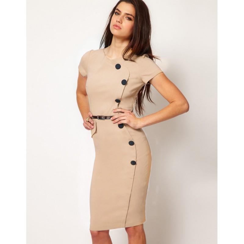 2a52e018154 ... pouzdrové rockabilly pinup společenské šaty s retro knoflíky S a M ...
