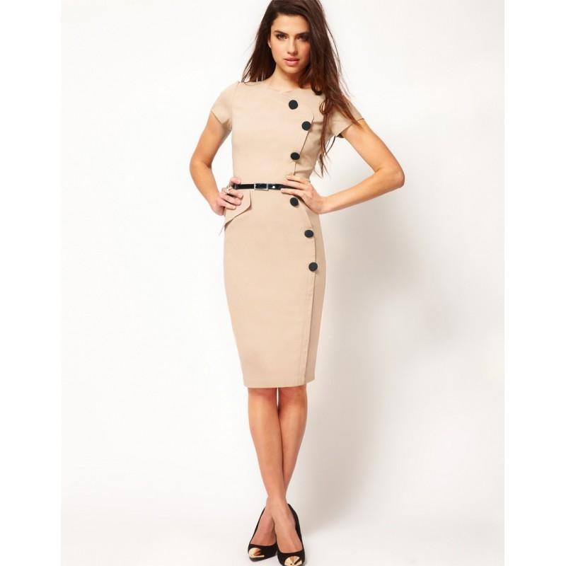 ... pouzdrové rockabilly pinup společenské šaty s retro knoflíky S a M ... 7e23fa934d