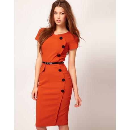 9ead66ade4d pouzdrové rockabilly pinup společenské šaty s retro knoflíky S a M ...