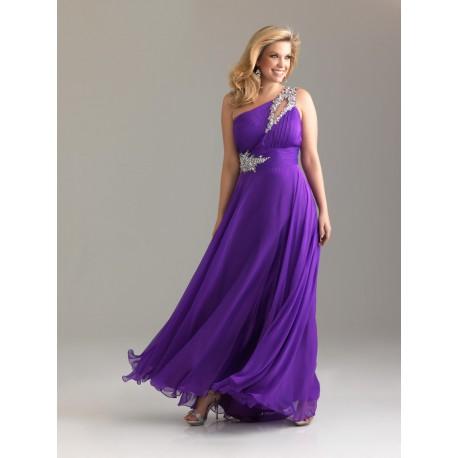 06828e5d6e23 dlouhé antické společenské plesové tmavě fialové šaty na jedno rameno Donna  S-M