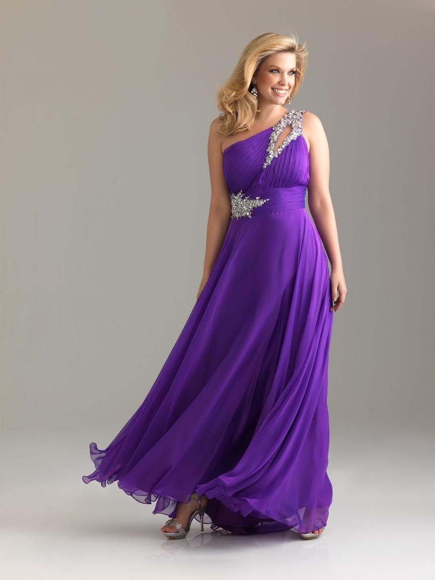 dbc1097f9d16 dlouhé antické společenské plesové tmavě fialové šaty na jedno rameno Donna  S-M
