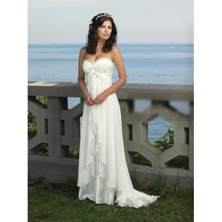 luxusní antické bílé svatební šaty Dionisa L-XL