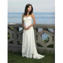 luxusní antické krémové svatební šaty Dionisa XS-S