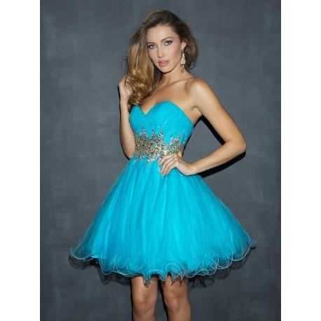 d3286f8b3 krátké modré tyrkysové společenské šaty Kelly S-M - Hollywood Style ...