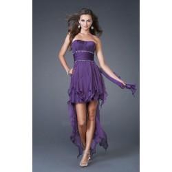 polodlouhé fialové společenské šaty Helen XXL-XXXL