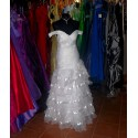 luxusní bílé svatební šaty na ramínka Ernie S-M