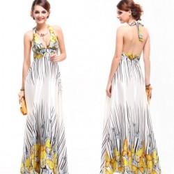 luxusní motýlkové společenské šaty Carol L