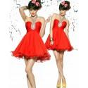 Bobby červené krátké společenské šaty do tanečních M