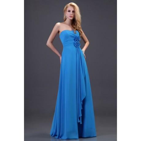 1b5c79fe4 luxusní jednoduché světle modré společenské šaty Silva M-L ...