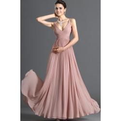 luxusní lososové plesové společenské šaty Rosé XL-XXXL