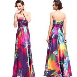barevné dlouhé společenské šaty Suri M