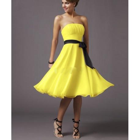 krátké žluté společenské šaty Ivone M-L