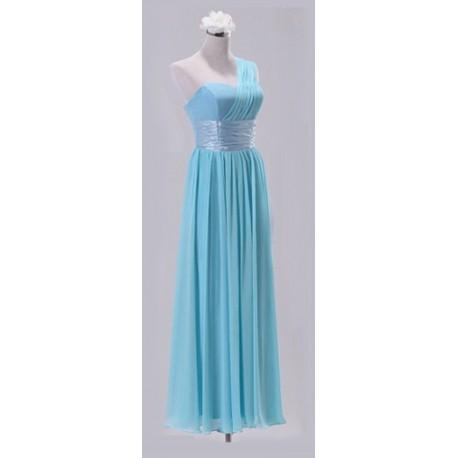 dlouhé nebesky modré společenské šaty Katharine M